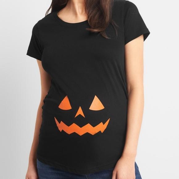halloween pumpkin maternity shirt
